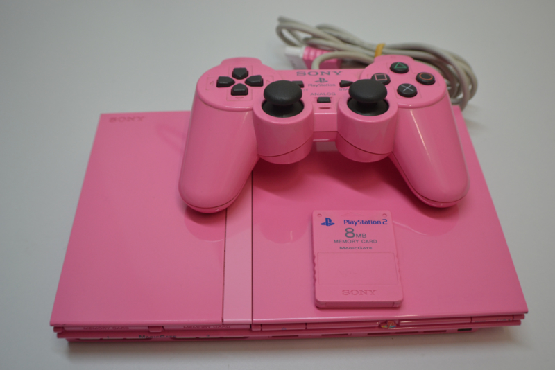 PlayStation 2 Console Slim  Set PINK
