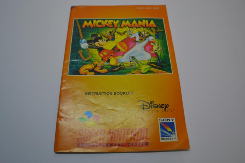 Mickey Mania (SNES EUR MANUAL
