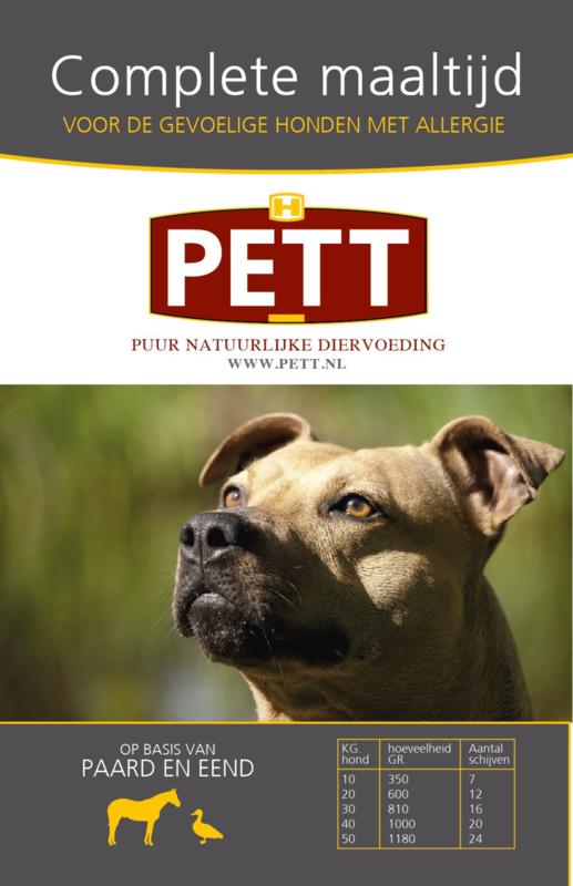 PETT puur vleesschijven paard-eend 9000 gram