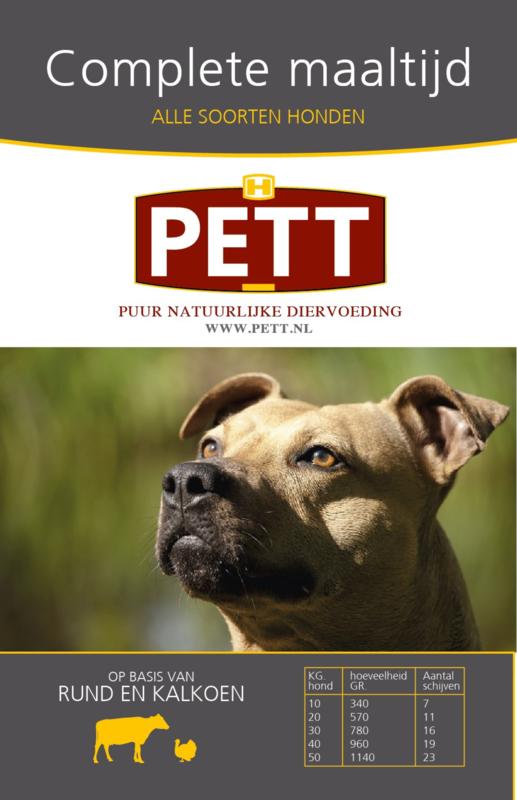 PETT puur vleesschijven rund-kalkoen 9000 gram