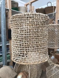 ROTAN LAMP MAAT 1 HAND EN FAIRTRADE GEMAAKT