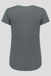 luxe dames bamboe t-shirt grijs