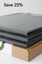 Crew Neck 3-Pack Bamboo T-Shirts Grey