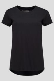 luxe dames bamboe t-shirt zwart