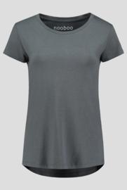 3x luxe dames bamboe t-shirt grijs