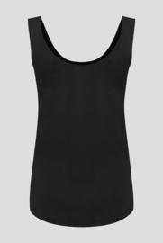 3x luxe dames bamboe singlet zwart