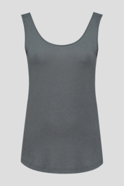 Luxe Bamboo Singlet Grey