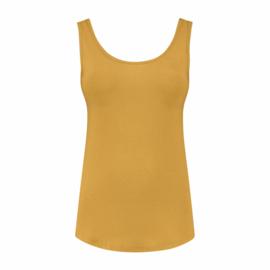 luxe dames bamboe singlet geel