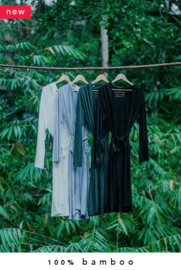 2x 100% bamboo kimono + 2x lounge pants combo (made-to-order in Bali + natural dye)