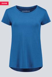 frauen bambus t-shirt blau