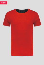 Luxe Crew Neck Bamboo T-Shirt Red