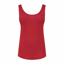 luxe dames bamboe singlet rood