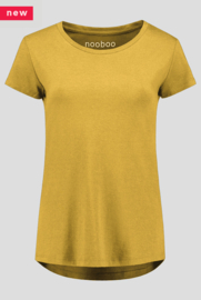 luxe dames bamboe t-shirt geel
