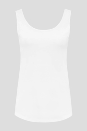 luxe dames bamboe singlet wit