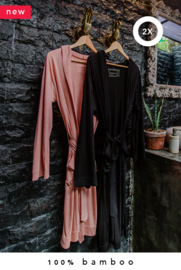 2x 100% bamboo kimono (made-to-order in Bali + natural dye)