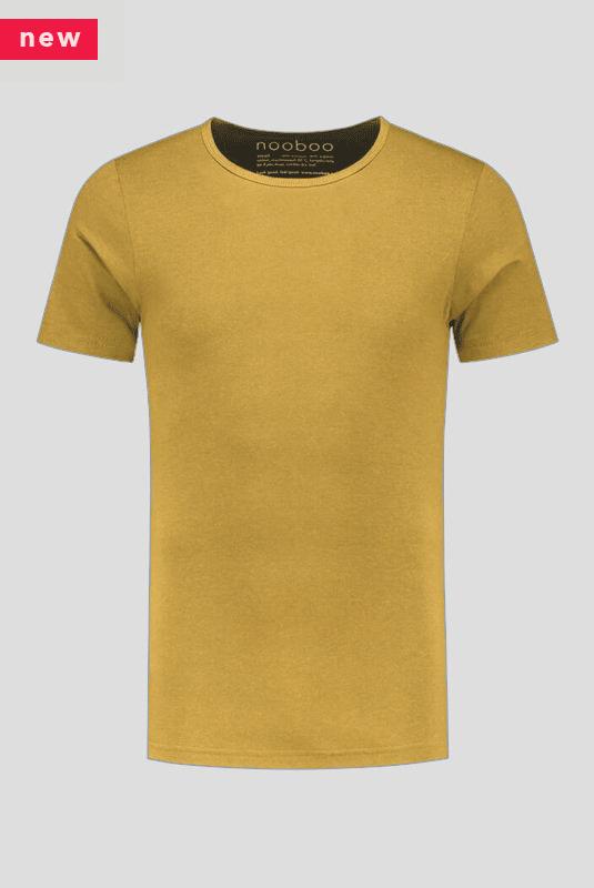 luxe bamboe t-shirt geel