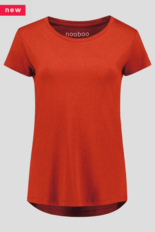 luxe dames bamboe t-shirt rood