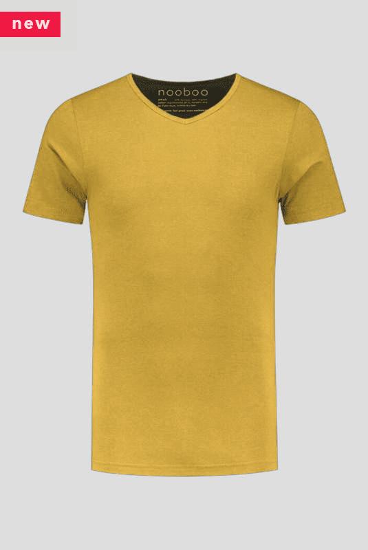 luxe bamboe t-shirt geel met v-hals