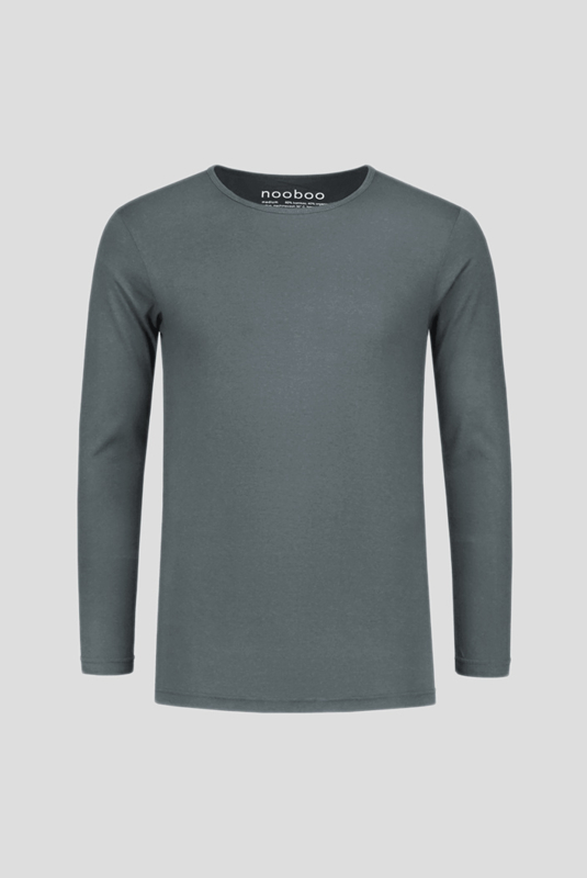 Essential Bamboo Long Sleeve Grey