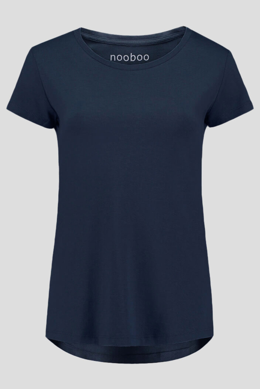 luxe dames bamboe t-shirt navy