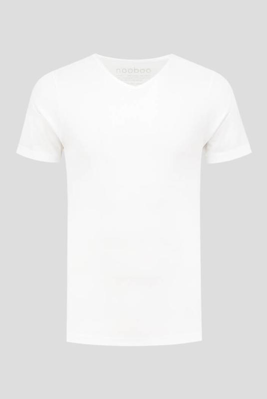 luxe bamboe t-shirt wit met v-hals