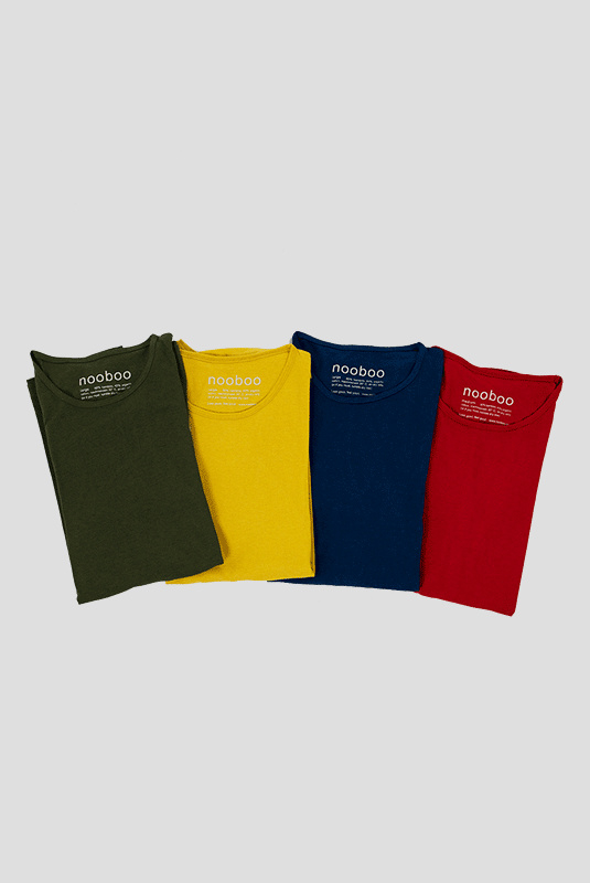4x luxe bamboe t-shirt mix kleur
