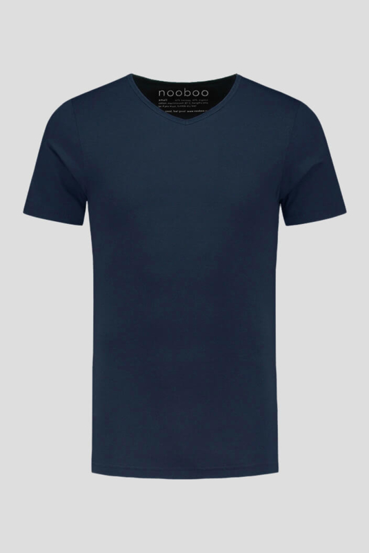 Essential V-Neck Bamboo T-Shirt Navy