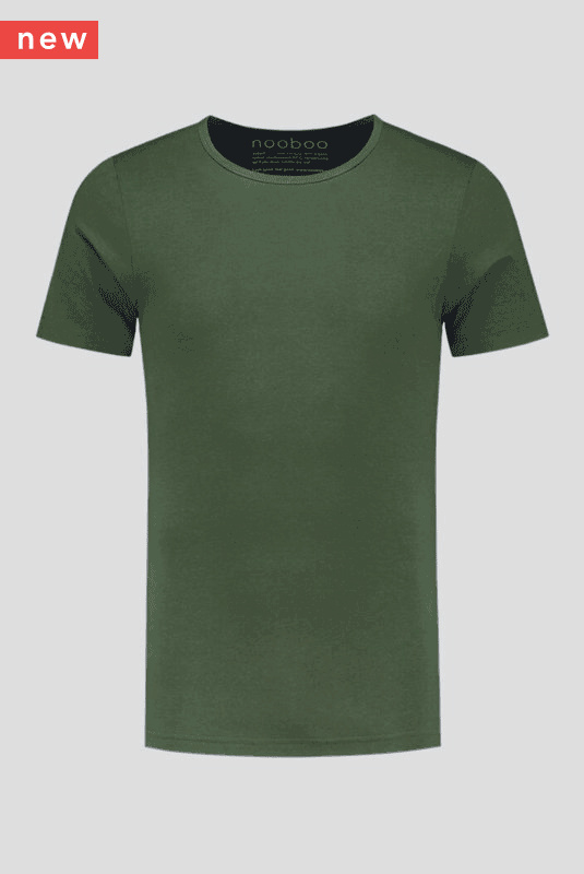 luxe bamboe t-shirt army green