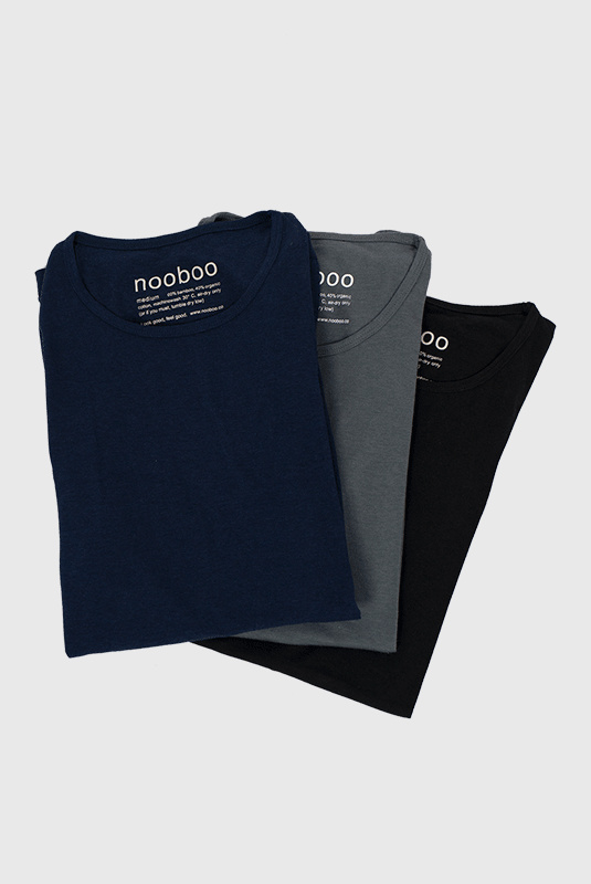 3-Pack Bamboo T-Shirts Dark Mix