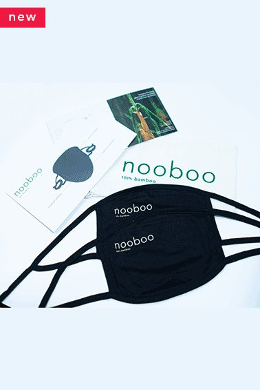 2x the most comfortable 100% bamboo face mask