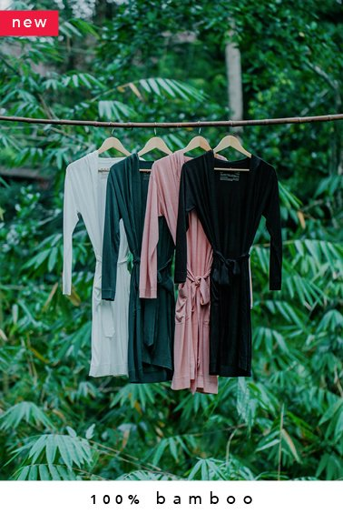 100% bamboo kimono + lounge pants combo (made-to-order in Bali + natural dye)