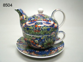 STRAWBERRY THIEF/TEA FOR ONE (8504) (WILLIAM MORRIS)
