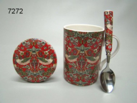 STRAWBERRY THIEF/MOK/ONDERZETTER/LEPEL (7272) (WILLIAM MORRIS)