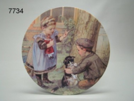 OT EN SIEN TAFELONDERZETTER/MET POES (7734)