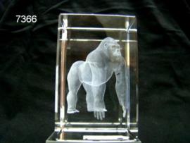GORILLA 3D GLASBLOKJE /5X5X8CM (7366)