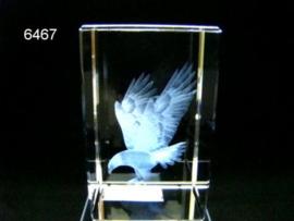 ADELAAR 3D GLASBLOKJE/5X5X8CM (6467)