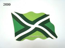 ACHTERHOEK/STICKER VLAGMODEL/8X5,5CM (2699)