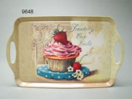 AARDBEI/CUP CAKE/DIENBLAD GROOT (9648)