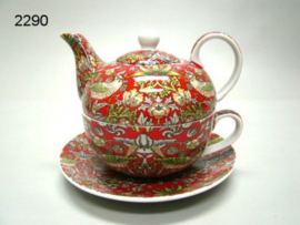 STRAWBERRY THIEF/TEA FOR ONE (2290) (WILLIAM MORRIS)