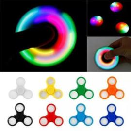 Fidget spinner | Hand spinner in de kleur zwart met led verlichting