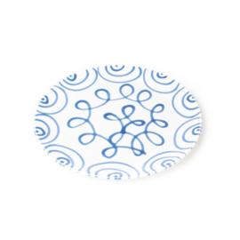 Dinerbord Geflammt blauw - 28 cm