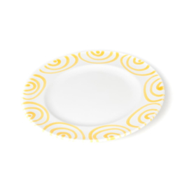 Dessertbord Geflammt geel- 18 cm