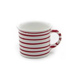 Koffiebeker Geflammt rood - 0,24l