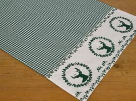 Loper Gerry hert groen - 48 x 150 cm