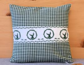 Kussenhoes Gerry hert - groen | 30 x 30 cm