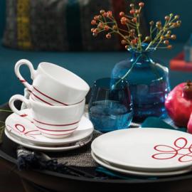 Ontbijt voor twee set - Pur Geflammt rood cadeauverpakking