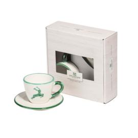 Espresso voor jou set - Hert groen cadeauverpakking