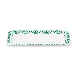 Stollenschaal Geflammt groen - 42 x 16 cm
