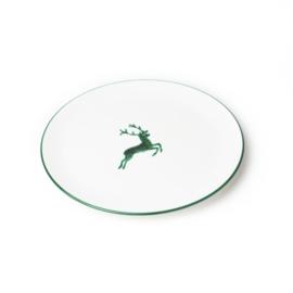 Dinerbord Hert groen - 25 cm