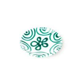 Schoteltje mokkakopje Geflammt groen - 11 cm